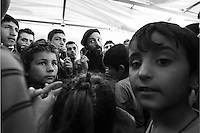 Pictured: A group of migrants at the port Tuesday 01 March 2016<br /> Re: Migrants at the port of Piraeus, near Athens, Greece