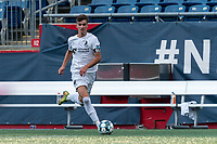 FOXBOROUGH, MA - JULY 25: USL League One (United Soccer League) match. Evan Conway #11 of Union Omaha looks to pass during a game between Union Omaha and New England Revolution II at Gillette Stadium on July 25, 2020 in Foxborough, Massachusetts.