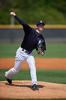 New York Yankees pitcher Nolan Martinez (10) delivers a pitch during a minor league Spring Training game against the Detroit Tigers on March 22, 2017 at the Yankees Complex in Tampa, Florida.  (Mike Janes/Four Seam Images)