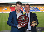 St Johnstone Player of the Year Awards 2014-15.....16.05.15<br /> Sean Stephen presents the We Are Perth Player of the Year Award to Chris Millar<br /> Picture by Graeme Hart.<br /> Copyright Perthshire Picture Agency<br /> Tel: 01738 623350  Mobile: 07990 594431