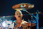 Drummer Adrian Young of No Doubt performs at the Cynthia Woods Mitchell Pavillion Sunday May 31,2009.(Dave Rossman/For the Chronicle)