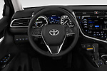 Car pictures of steering wheel view of a 2019 Toyota Camry XLE Hybrid 4 Door Sedan