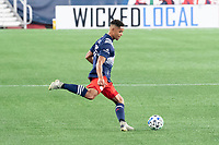 FOXBOROUGH, UNITED STATES - AUGUST 20: Brandon Bye #15 of New England Revolution during a game between Philadelphia Union and New England Revolution at Gilette on August 20, 2020 in Foxborough, Massachusetts.