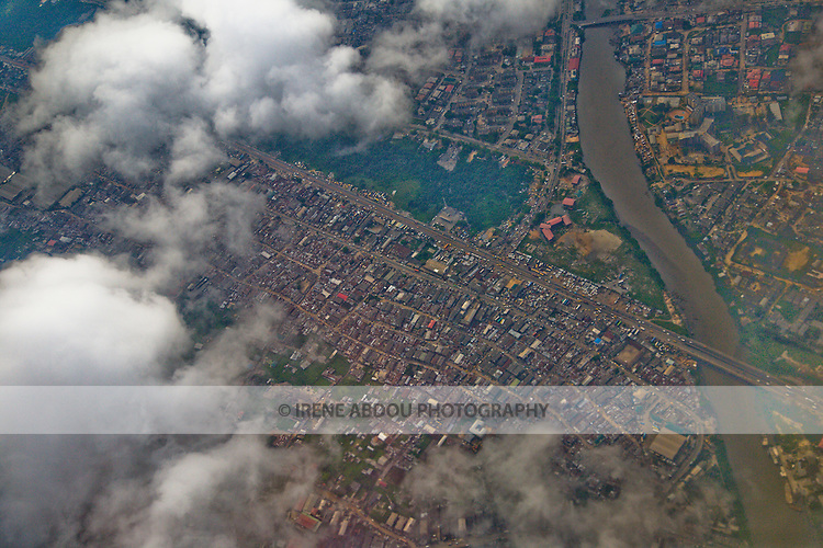 Aerial view of Lagos, Nigeria's largest city.