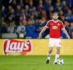 Belgie, Brugge, 26 augustus 2015<br /> Champions League play offs<br /> Seizoen 2015-2016<br /> Club Brugge-Manchester United (0-4)<br /> Daley Blind van Manchester United in actie met bal