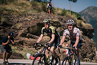 Mathew Hayman (AUS/Mitchelton-Scott) & Daryl Impey (ZAF/Mitchelton-Scott) up the final climb of the day (in Spain!): the Col du Portillon (Cat1/1292m)<br /> <br /> Stage 16: Carcassonne > Bagnères-de-Luchon (218km)<br /> <br /> 105th Tour de France 2018<br /> ©kramon