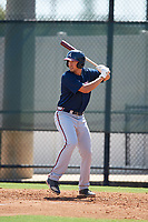Atlanta Braves Drew Lugbauer (82) at bat during a Florida Instructional League game against the Philadelphia Phillies on October 5, 2018 at the Carpenter Complex in Clearwater, Florida.  (Mike Janes/Four Seam Images)