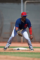 Cleveland Indians Jose Medina (33) during an instructional league game against the Milwaukee Brewers on October 8, 2015 at the Maryvale Baseball Complex in Maryvale, Arizona.  (Mike Janes/Four Seam Images)