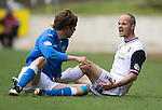 St Johnstone v Inverness Caley Thistle...02.05.15   SPFL<br /> David Raven is booked for this incident with Murray Davidson<br /> Picture by Graeme Hart.<br /> Copyright Perthshire Picture Agency<br /> Tel: 01738 623350  Mobile: 07990 594431