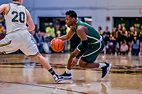 12 March 2019: Binghamton University Bearcat Forward Guard Richard Caldwell, Jr., a Junior from Philadelphia, PA, in action during the America East Semifinal Men's Basketball playoff game against the University of Vermont Catamounts at Patrick Gymnasium in Burlington, Vermont. The top-seeded Catamounts defeated the Bearcats 84-51, ending Binghamton's 2018-2019 season. Mandatory Credit: Ed Wolfstein Photo *** RAW (NEF) Image File Available ***