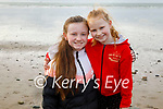 Michaela and Andrea Lynch enjoying a stroll on the beach in Ballyheigue on Sunday.