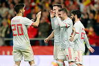 Spain's Marco Asensio, Saul Niguez, Iago Aspas and Isco Alarcon celebrate goal during international friendly match. March 27,2018.(ALTERPHOTOS/Acero) /NortePhoto.com NORTEPHOTOMEXICO