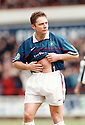 :: RANGERS ASSISTANT MANAGER ALLY MCCOIST WHO IS SET TO TAKE OVER FROM CURRENT MANAGER WALTER SMITH AT THE END OF SEASON 2010 - 2011 :: HE IS PICTURED DURING HIS PLAYING DAYS IN A MATCH AGAINST DUNFERMLINE ATHLETIC,  EAST END PARK, DUNFERMLINE ON THE 28TH MARCH 1998 ::
