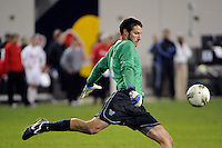Villanova Wildcats goalkeeper John Fogarty (1). St. John's defeated Villanova 2-0 during the second semifinal match of the Big East Men's Soccer Championships at Red Bull Arena in Harrison, NJ, on November 11, 2011.