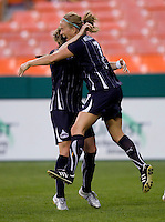 Lene Mykjaland, Sonia Bompastor.   The Washington Freedom defeated the Saint Louis Athletica, 3-1.
