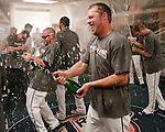 The Reno Aces celebrate their Pacific Coast League Conference Championship over the Sacramento River Cats in their locker room on Sunday afternoon, September 9, 2012 in Reno, Nevada.