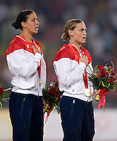 Shannon Boxx, Christie Rampone. The USWNT defeated Brazil, 1-0, to win the gold medal during the 2008 Beijing Olympics at Workers' Stadium in Beijing, China.