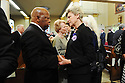 US Rep. John Lewis talks to Cokie Roberts at former US Rep. Lindy Boggs'  funeral at St. Louis Cathedral, New Orleans, Aug. 1, 2013.