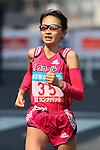 Feb. 27, 2011 - Tokyo, Japan - Noriko Higuchi of Japan powers her way to finish line at the Tokyo Marathon. (Photo by Daiju Kitamura/AFLO SPORT)