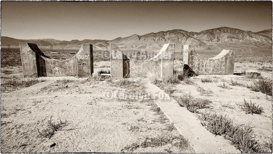 Abandoned propane tank foundation, Babbitt (Hawthorne), Nevada