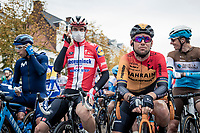 Mark Cavendish (GBR)(GBR/Bahrain-McLaren) on the start line<br /> <br /> 44th AG Driedaagse Brugge-De Panne 2020 (1.UWT / BEL)<br /> 1 day race from Brugge to De Panne (203km shortened to 188km due to the windy weather conditions) <br /> <br /> ©kramon