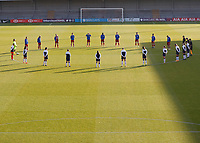 The teams take a minute of silence during Tottenham Hotspur Women vs Reading FC Women, Barclays FA Women's Super League Football at the Hive Stadium on 7th November 2020