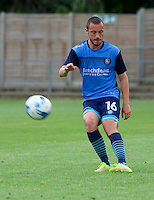 Michael Harriman of Wycombe Wanderers warming up before the Friendly match between Maidenhead United and Wycombe Wanderers at York Road, Maidenhead, England on 30 July 2016. Photo by Alan  Stanford PRiME Media Images.