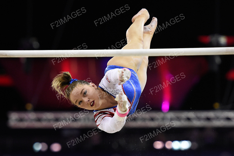 2017 WORLD CUP OF GYMNASTICS. The O2 Arena.Saturday, April 8, 2017. Women's Competition .Amy TINKLER (GBR)