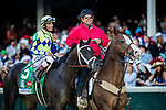 LOUISVILLE, KY - MAY 06: Always Dreaming #5 with John Velazquez up comes back after winning the Kentucky Derby at Churchill Downs on May 6, 2017 in Louisville, Kentucky. (Photo by Alex Evers/Eclipse Sportswire/Getty Images)