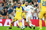 Real Madrid's Dani Carvajal (r) and Apoel FC's Stithies Aloneftis during Champions League Group H match 1. September 13,2017. (ALTERPHOTOS/Acero)
