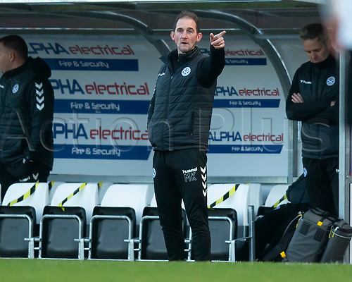21st November 2020; Somerset Park, Ayr, South Ayrshire, Scotland; Scottish Championship Football, Ayr United versus Dundee FC; Ayr United boss Mark Kerr points the way forward