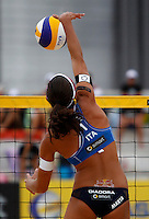 Italy's Marta Menegatti in action at the Beach Volleyball World Tour Grand Slam, Foro Italico, Rome, 22 June 2013. United States defeated Italy 2-0. UPDATE IMAGES PRESS/Isabella Bonotto