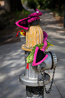 New Orleans, Louisiana.  Decorated Fire Hydrant, Uptown District.