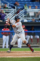 Mahoning Valley Scrappers catcher Li-Jen Chu (16) at bat during a game against the Batavia Muckdogs on June 23, 2015 at Dwyer Stadium in Batavia, New York.  Mahoning Valley defeated Batavia 11-2.  (Mike Janes/Four Seam Images)