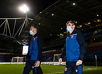 Bolton Wanderers' Gethin Jones (left) and Ronan Darcy arriving at the stadium  <br /> <br /> Photographer Andrew Kearns/CameraSport<br /> <br /> The EFL Sky Bet League Two - Bolton Wanderers v Salford City - Friday 13th November 2020 - University of Bolton Stadium - Bolton<br /> <br /> World Copyright © 2020 CameraSport. All rights reserved. 43 Linden Ave. Countesthorpe. Leicester. England. LE8 5PG - Tel: +44 (0) 116 277 4147 - admin@camerasport.com - www.camerasport.com