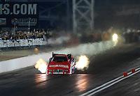 Oct. 26, 2012; Las Vegas, NV, USA: NHRA funny car driver Johnny Gray during qualifying for the Big O Tires Nationals at The Strip in Las Vegas. Mandatory Credit: Mark J. Rebilas-