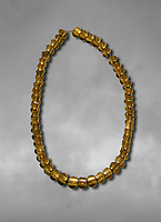 Bronze Age Hattian gold necklace from Grave L,  possibly a Bronze Age Royal grave (2500 BC to 2250 BC) - Alacahoyuk - Museum of Anatolian Civilisations, Ankara, Turkey