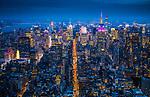 USA, New York, Manhattan, aerial