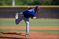 Texas Rangers pitcher Ryan Dease (87) follows through on his delivery during an Instructional League game against the San Diego Padres on September 20, 2017 at Peoria Sports Complex in Peoria, Arizona. (Zachary Lucy/Four Seam Images)
