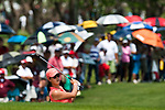CHON BURI, THAILAND - FEBRUARY 20:  Michelle Wie of USA plays a bunker shot on the 1st hole during day four of the LPGA Thailand at Siam Country Club on February 20, 2011 in Chon Buri, Thailand. Photo by Victor Fraile / The Power of Sport Images