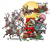 GIORDANO, CHRISTMAS ANIMALS, WEIHNACHTEN TIERE, NAVIDAD ANIMALES, Teddies, paintings+++++,USGI1457,#XA#