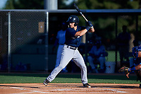 AZL Brewers Blue Alex Hall (33) at bat during an Arizona League game against the AZL Royals at Surprise Stadium on June 18, 2019 in Surprise, Arizona. AZL Royals defeated AZL Brewers Blue 12-7. (Zachary Lucy/Four Seam Images)