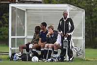 Members of the Juva FC team look on from the dugout during the Dick Coppock Sunday Cup Final at Ive Farm Arena, Leyton - 04/05/08 - MANDATORY CREDIT: Gavin Ellis/TGSPHOTO - Self billing applies where appropriate - Tel: 0845 094 6026
