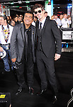 Robin Thicke and George Lopez at The Hard Rock Cafe Hollywood's grand opening party in Hollywood, California on October 21,2010                                                                               © 2010 Hollywood Press Agency