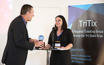 Vince Rieger (TriTix Impact Award Winner) and Kelly Brennan (TriTix Leadership) during the 2019 TRITIX Forum at Arts West Building on September 19, 2019 in New York City.