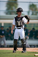 Pittsburgh Pirates catcher Brent Gibbs (66) during an Instructional League game against the New York Yankees on September 28, 2017 at Pirate City in Bradenton, Florida.  (Mike Janes/Four Seam Images)