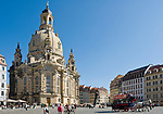 Deutschland, Freistaat Sachsen, Dresden: Frauenkirche am Neumarkt, Pferdekutsche | Germany, the Free State of Saxony, Dresden: church of our lady at Neumarkt square, horse-drawn carriage
