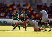 5th June 2021; Brentford Community Stadium, London, England; Gallagher Premiership Rugby, London Irish versus Wasps; Motu Matu'u of London Irish tackled by  Jeff Toomaga-Allen of Wasps