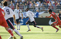 DaMarcus Beasley runs for the ball. The USA defeated China, 4-1, in an international friendly at Spartan Stadium, San Jose, CA on June 2, 2007.