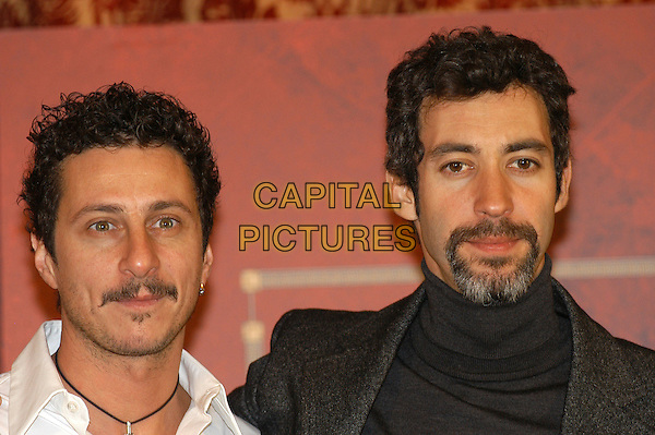 "LUCA BIZZARRI & PAOLO KESSISOGLU .Photocall for ""Asterix aux jeux olympiques"" (Asterix at the Olympic Games), Rome, Italy..January 28th, 2008.headshot portrait facial hair goatee .CAP/CAV.©Luca Cavallari/Capital Pictures. *** Local Caption *** ."